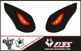 1 jeu de caches phares DJS pour KAWASAKI ZX-10R-2008-2010 microperforés qui laissent passer la lumière - référence : yeux modèle 6-