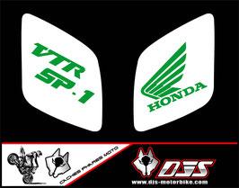 1 jeu de caches phares DJS pour Honda vtr sp1-sp2  microperforés qui laissent passer la lumière - référence : VTR SP1-SP2-017-