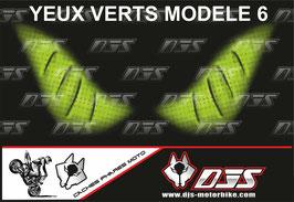 1 jeu de caches phares DJS pour KAWASAKI ER6-F 2009-2011 microperforés qui laissent passer la lumière - référence : KAWASAKI ER6-F 2009-2011-yeux modèle 6-