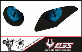 1 jeu de caches phares DJS pour  BMW S 1000 RR 2009-2014 microperforés qui laissent passer la lumière - référence : yeux modèle 4-