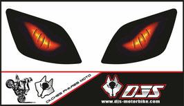 1 jeu de caches phares DJS pour KAWASAKI ZX-6R 2000-2002 microperforés qui laissent passer la lumière - référence : yeux modèle 6-