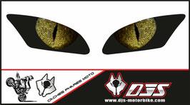 1 jeu de caches phares DJS pour Yamaha r6 2006-2016 microperforés qui laissent passer la lumière - référence : Yamaha r6 2006-2016-yeux modèle 4-