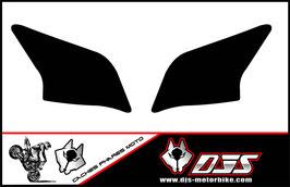 1 jeu de caches phares DJS pour YAMAHA YZF R 125 microperforés qui laissent passer la lumière - référence : YZF-R-125-uni noir
