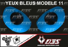 1 jeu de caches phares DJS pour YAMAHA YZF R 125 2008 - 2018 microperforés qui laissent passer la lumière - référence : YAMAHA YZF R 125 2008 - 2018-yeux modèle 11-