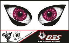 1 jeu de caches phares DJS pour KAWASAKI ZX-6R-2007-2008 microperforés qui laissent passer la lumière - référence : yeux modèle 18-