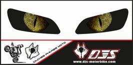 1 jeu de caches phares DJS pour  HONDA CBR RR 600-1000 2003-2007 microperforés qui laissent passer la lumière - référence : yeux modèle 4-