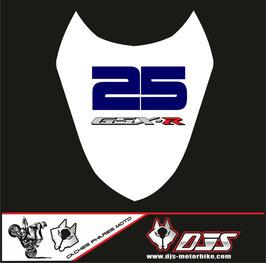 1 cache phare DJS pour Suzuki gsx r 1000 2003-2004 microperforé qui laisse passer la lumière - référence : gsxr 1000-2003-2007-007-