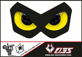 1 cache phare DJS pour Kawasaki Z750-2004-2006 microperforé qui laisse passer la lumière - référence : Kawasaki Z750-2004-2006-yeux modèle 10-