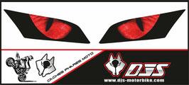 1 jeu de caches phares DJS pour  Honda CBR 600 RR 2008-2012 microperforés qui laissent passer la lumière - référence : yeux modèle 3-