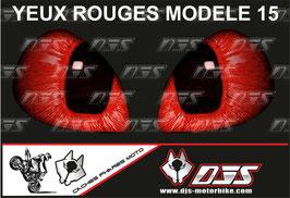1 jeu de caches phares DJS pour  Honda CBR 600 RR 2008-2012 microperforés qui laissent passer la lumière - référence : yeux modèle 15-