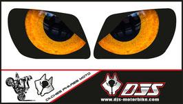 1 jeu de caches phares DJS pour kawasaki KFX microperforés qui laissent passer la lumière - référence : kfx-yeux 10 orange