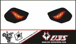 1 jeu de caches phares DJS pour YAMAHA  r1 de 2015-2021 microperforés qui laissent passer la lumière - référence : YAMAHA  r1 de 2015-2021-yeux modèle 6-