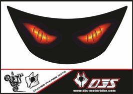 1 cache phare DJS pour Kawasaki zx6r microperforé qui laisse passer la lumière - référence : zx6r-1996-1999-yeux rouges modèle 1-