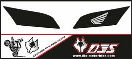 1 jeu de caches phares DJS pour Honda CBR 600 RR 2008-2012 microperforés qui laissent passer la lumière - référence : 001-