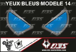 1 jeu de caches phares DJS pour Yamaha r6 de 2003-2005  microperforés qui laissent passer la lumière - référence : Yamaha r6 de 2003-2005 -yeux modèle 14-