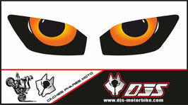 1 jeu de caches phares DJS pour YAMAHA r6 1999-2002 microperforés qui laissent passer la lumière - référence : YAMAHA r6 1999-2002-yeux modèle 9-