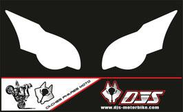 1 jeu de caches phares DJS pour HONDA CBR 1000 RR  microperforés qui laissent passer la lumière - référence : CBR 1000-2008-2011-blanc uni-