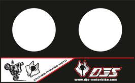 1 jeu de caches phares DJS pour Triumph speed triple microperforés qui laissent passer la lumière - référence : speed triple-2007-2010-BLANC UNI-