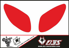 1 jeu de caches phares DJS pour Yamaha T MAX  2001-2008 microperforés qui laissent passer la lumière - référence : T MAX  2001-2008-fond couleur uni-