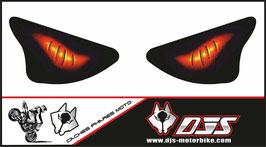 1 jeu de caches phares DJS pour KAWASAKI  ZX6R-2003-2004 microperforés qui laissent passer la lumière - référence : yeux modèle 6-