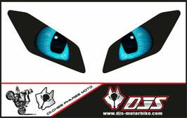 1 jeu de caches phares DJS pour Yamaha MT09 2017-2020 microperforés qui laissent passer la lumière - référence : Yamaha MT09 2017-2020-yeux modèle 15-