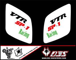1 jeu de caches phares DJS pour Honda vtr sp1-sp2  microperforés qui laissent passer la lumière - référence : VTR SP1-SP2-008-