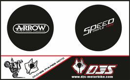 1 jeu de caches phares DJS pour Triumph speed triple microperforés qui laissent passer la lumière - référence : speed triple-2007-2010-004-