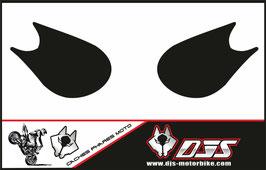 1 jeu de caches phares DJS pour Kawasaki zx10r 2006-2007 microperforé qui laissent passer la lumière - référence :zx10r-2006-2007-noir uni-