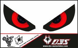 1 jeu de caches phares DJS pour Kawasaki Z1000 2015-2021 microperforés qui laissent passer la lumière - référence : z1000-2015-2021-yeux modèle 10-