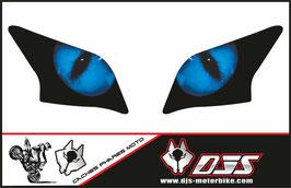 1 jeu de caches phares DJS  microperforés qui laissent passer la lumière - référence : YAMAHA YZF R 125 2008 - 2018 yeux modèle 1-