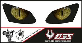 1 jeu de  caches phares DJS pour YAMAHA R1 2007-2008 microperforés qui laissent passer la lumière - référence : YAMAHA R1 2007-2008-yeux modèle 4-