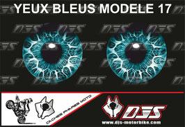 1 jeu de caches phares DJS pour yamaha yzf r 125  microperforés qui laissent passer la lumière - référence : yamaha yzf r 125 2019-2021-yeux modèle 17-