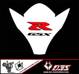 1 kit  cache phare DJS pour suzuki gsxr 600-750 k6 k7 microperforé qui laisse passer la lumière - référence : gsxr-600-750-2006-2007-015-