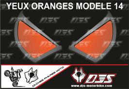1 jeu de caches phares DJS pour KTM DUKE 890 2020-2021 microperforés qui laissent passer la lumière - référence : yeux modèle 14-