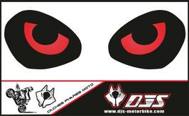 1 jeu de caches phares DJS pour TRIUMPH street triple 765 2016-2018  microperforés qui laissent passer la lumière - référence : yeux modèle 9-