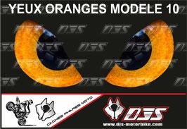 1 jeu de caches phares DJS pour KTM SUPERDUKE 1290 2017-2021 microperforés qui laissent passer la lumière - référence : yeux modèle 10-
