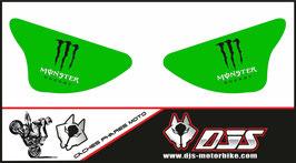 1 jeu de caches phares DJS pour Kawasaki zx6r microperforé qui laisse passer la lumière - référence : ZX6R-2003-2004-006-