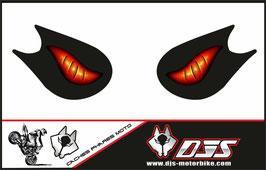 1 jeu de caches phares DJS pour KAWASAKI ZX-10R 2006-2007  microperforés qui laissent passer la lumière - référence : yeux modèle 6-