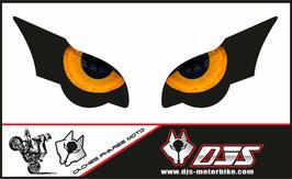 1 jeu de caches phares DJS pour HONDA CBR 1000 RR -2008-2011  microperforés qui laissent passer la lumière - référence : yeux modèle 9-