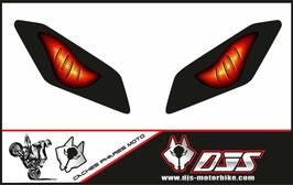 1 jeu de caches phares DJS pour Yamaha MT09 2017-2020 microperforés qui laissent passer la lumière - référence : Yamaha MT09 2017-2020-yeux modèle 6-