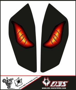 1 jeu de caches phares DJS pour KTM DUKE 890 2020-2021 microperforés qui laissent passer la lumière - référence : yeux modèle 6-