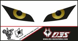 1 jeu de caches phares DJS pour Kawasaki zx10r 2011-2015 microperforés qui laissent passer la lumière - référence : zx10r 2011-2015-yeux modèle 11-