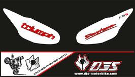 1 jeu de caches phares DJS pour Triumph daytona 2009-2012 microperforés qui laissent passer la lumière - référence : daytona-2009-2012-004-