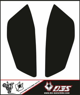 1 jeu de caches phares DJS pour KTM DUKE 790 2018-2020 microperforés qui laissent passer la lumière - référence : duke 790 2018-2020-NOIR  UNI-