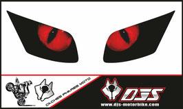 1 jeu de caches phares DJS pour YAMAHA FZ1 2006-2009 microperforés qui laissent passer la lumière - référence : FZ1-2006-2009-004-