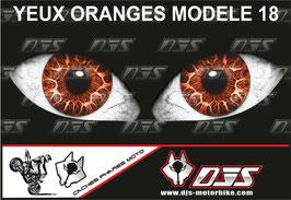 1 jeu de caches phares DJS pour KTM SUPERDUKE 1290 2017-2021 microperforés qui laissent passer la lumière - référence : yeux modèle 18-