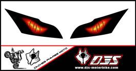 1 jeu de caches phares DJS pour Kawasaki zx10r 2011-2015 microperforés qui laissent passer la lumière - référence : zx10r 2011-2015-yeux modèle 6-