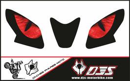 1 jeu de caches phares DJS pour APRILIA RSV4 2014-2020 microperforés qui laissent passer la lumière - référence : yeux modèle 3-