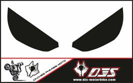 1 jeu de caches phares DJS pour Kawasaki Z1000 2015-2019 microperforés qui laissent passer la lumière - référence : z1000-2015-2019-noir uni-