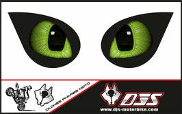 1 jeu de caches phares DJS pour KAWASAKI ZX-6R-2007-2008 microperforés qui laissent passer la lumière - référence : yeux modèle 15-